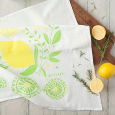 Lemons Tea Towel - A