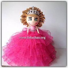 Quinceañera Fofucha Doll by CrochetNFofuchas on Etsy #Quinceaneraideas #Sweet16 centerpiece #XVcenterpiece