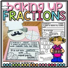 Baking Up Fractions! A Part... by Teaching with Crayons and Curls | Teachers Pay Teachers