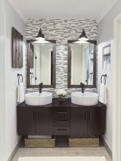 6th Street Design School: Featured Friday: Jenna Sue Bad Inspiration, Bathroom Inspiration, Furniture Inspiration, Bathroom Renos, Bathroom Ideas, Bathroom Wall, Wall Tile, White Bathroom, Modern Bathroom