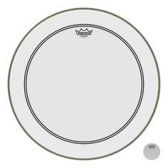 "Remo Smooth White 22"" Powerstroke 3 DynamO No Stripe Bass Drum Batter Head"