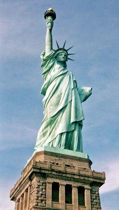 Liberty enlightening the world from ellis island