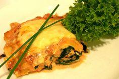 reminiscence kitchen: Kongekrabbelasagne med spinat, hvitløk og chilli