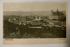 Prague Hradcany Castle District Photo Postcard 1930th #Cityscape