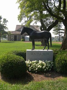 Where Is Secretariats Grave | Monument to the great racehorse Seattle Slew near one of our study ...