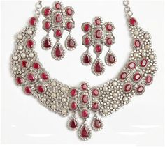 """Opeline""...only $27,700 or P1,218,800!! 18.20ct Diamond , Ruby & Pearl Necklace Set! Imported, world-class quality, not pre-owned, not pawned, not stolen. We deliver worldwide <3"