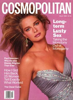 Cosmopolitan magazine, MARCH 1989 Model: Laura Lamberti Photographer: Francesco Scavullo