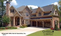 Laurel Haven 03215, Front Elevation, French Country Style House Plans, Traditional Style House Plans