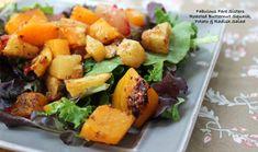 Roasted Butternut Squash, Potato & Radish Salad – Fabulous Fare Sisters Radish Salad, Roasted Butternut Squash, The Fresh, Cantaloupe, Salads, Sisters, Potatoes, Stuffed Peppers, Salad