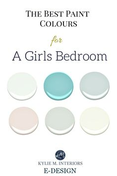The best Benjamin Moore paint colours and accent palettes for girls bedroom, nursery or tween room. Kylie M E-design