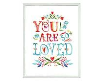 Quadro You are Loved Stheam - 47x65cm