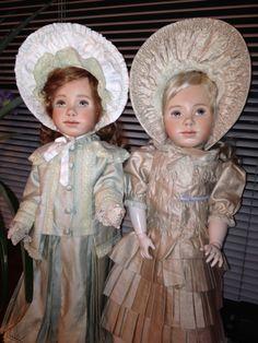 Porcelain version of 'Laura' sculpt done as sisters.