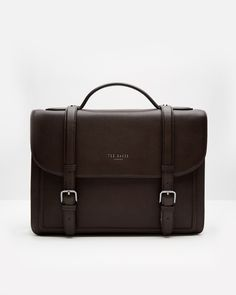Leather satchel - Chocolate | Bags | Ted Baker