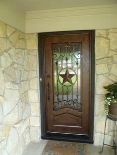 Texas Lone Star iron door aaleadedglass.com