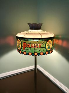 Vintage Plastic Pabst Blue Ribbon Bar Lamp Shade Stain Gl Style Light Beer Chandelier Decor
