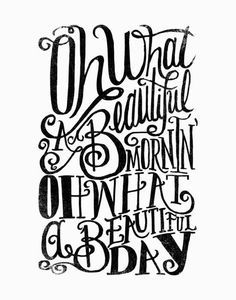Oh what a beautiful day by Matthew Taylor Wilson motivationmonday print inspirational black white poster motivational