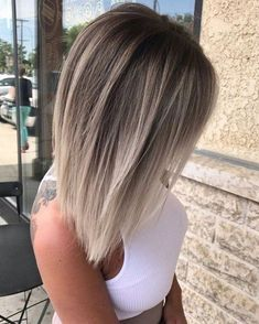 Bob Frisuren 2019 Edgy Haarfarbe 2019 Kurze Bob Frisuren 2019 Edgy Haarfarbe 2019 easy hairstyles for this spring break 5 ~ Gray Lace Frontal Wigs white and silver hair – wigsshort 15 Fall Hair Color Ideas for 2014 Medium Layered Hair, Blonde Fashion, Edgy Hair, Haircut And Color, Short Bob Hairstyles, Layered Hairstyles, Easy Hairstyles, Blonde Hairstyles, Cool Hair Color