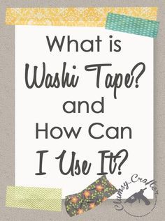 56 Ideas Art Journal Projects Washi Tape For 2019 Washi Tape Uses, What Is Washi Tape, Washi Tape Cards, Masking Tape, Washi Tape Planner, Planner Diy, Washi Tapes, Happy Planner, Tapas