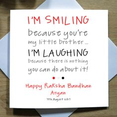 J ust one from our selection of personalised handmade raksha bandhan cards. Birthday Cards For Brother, Simple Birthday Cards, Gifts For Brother, Sister Birthday, Brother Sister, Raksha Bandhan Photos, Raksha Bandhan Cards, Raksha Bandhan Gifts, Rakhi Greetings
