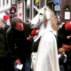 This picture is for all of those who keep telling me unicorns aren't real!! This one appeared in the local news.. SUCK IT!!! #Unicorn #unicornpower #news #germany #bremen #carnaval #carnival #karneval...