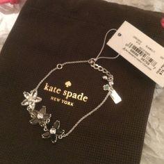 """♠️bed of roses bracelet Faux crystal sparkling flowers. 7.5"""" adjustable bracelet. Comes with dust bag. kate spade Jewelry Bracelets"""