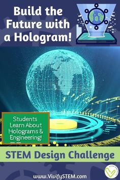 You have time-traveled to the future where holograms are commonplace. A business has hired your engineering firm to design a building that uses a holographic first floor to attract potential customers/patrons. Use your engineering skills to create a scale model of the structure that sits on top of your hologram display. Then create a recording to encourage people to come inside! Student handouts are provided in printed and digital format (editable Google Slides). Fun Math Activities, Math Games For Kids, Hands On Activities, Teaching Tips, Learning Resources, Student Learning, Hologram Technology, Science And Technology, Engineering Design Process