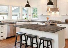 Giani Granite Affordable Countertops, Cheap Kitchen Countertops, Corian Countertops, Countertop Options, Diy Kitchen Cabinets, Countertop Materials, Giani Granite, Kitchen Remodeling, Remodeling Ideas