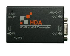 The HDA video adapter converts your HDMI (High Definition Multimedia Interface) video signal into an analog VGA video signal and gives you the ability to connect a HDMI video source, such as a Blu-Ray player to a VGA display monitor. The HDMI to VGA digital to analog converter is compatible with resolutions up to 1920 x 1200 @ 60Hz or WUXGA for PCs or 1080p deep color for HDTV. The small form factor lets the video converter unit be placed anywhere to keep your desktop space uncluttered…