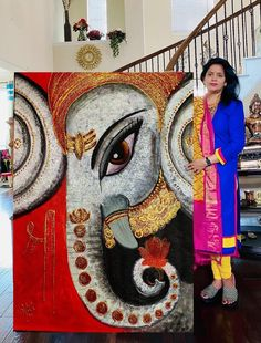 Ganesha Painting, Ganesha Art, Madhubani Painting, Doodle Art Drawing, Art Drawings, Star Painting, Small Canvas Art, Indian Art Paintings, Abstract Canvas