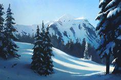 ArtStation - Snowy forest, Oleg Zherebin