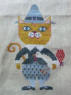 セールのご案内に釣られて覗いちゃったショップで出会った BOFさんの猫ちゃんシリーズの11月猫です。きりりと恰好いいですね。 オトモダチの猫ちゃんに似...
