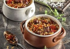 Greek Lamb and Orzo Baked Stew by Greek chef Akis Petretzikis. A super delicious, authentic traditional Greek recipe with soft lamb that will impress everyone! Orzo Recipes, Lamb Recipes, Greek Recipes, Meat Recipes, Confectionery Recipe, Boneless Leg Of Lamb, Savoury Dishes, Easter Recipes, Stuffed Green Peppers
