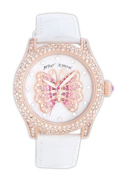 Betsey Johnson Butterfly Dial Pavé Crystal Watch   Nordstrom....another must!