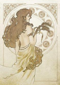 Virgo - Need compliments and hard living long lasting love (Illustration Horoscope for Indonesia printer Virgo Art, Zodiac Art, Zodiac Signs, Zodiac Capricorn, Love Illustration, Botanical Illustration, Tarot, Art Nouveau, Horoscope Tattoos