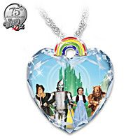 Necklace: Wizard Of Oz Over The Rainbow Crystal Heart Pendant Necklace Wizard Of Oz Toys, Wizard Of Oz Collectibles, Wizard Of Oz Quotes, Over The Rainbow, Crystal Pendant, Faceted Crystal, Heart Pendant Necklace, Gifts For Family, Unique Gifts