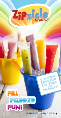 Zipzicle ice pop bags for making your own alcoholic ice pops. Only $2.99/pkg Each package contains 12 Zipzicle™ bags (1.625 x 9 in).