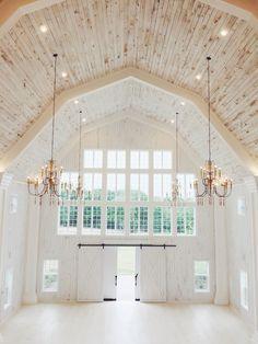 whitewashed barn