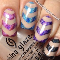 Color Club Halo Hues chevrons. Gorgeous