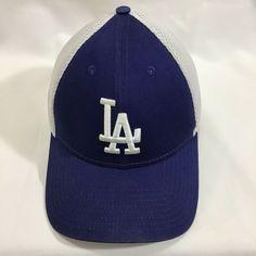 online retailer 82764 62b57 LA Dodgers NEW ERA 39Thirty S M Diamond Royal Blue White Mesh Fitted Cap
