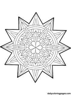 Free Printable Mandala Coloring Pages | mandala christmas ornaments coloring pages 019