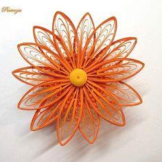 Only a flower - Csak egy virág  #quilling #quillingart #paperart #quillingflower #quillingvirágok #orange #narancssárga #pinterzsudesign
