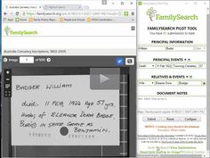New! FamilySearch Pilot Tool - free webinar explains the new tool - Legacy New