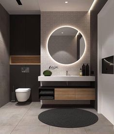 Examples Of Minimal Interior Design For Bathroom Decor 45 de. - Examples Of Minimal Interior Design For Bathroom Decor 45 design - Modern Bathroom Design, Simple Bathroom, Bathroom Interior Design, Modern Interior Design, Master Bathroom, Mirror Bathroom, Silver Bathroom, Mirror Vanity, White Bathroom