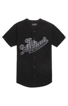 PacSun presents The Hundreds Field Jersey. This quality shirt comes with a classic jersey look and a two tone Hundreds logo embroidered across the front.	Solid jersey with two tone The Hundreds graphic on front	Button front	Short sleeves	Regular fit	Machine washable	100% cotton	Imported