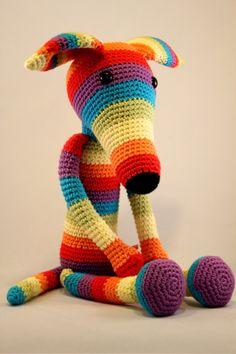 Galgo muñeco / Greyhound doll por Amigupi en Etsy