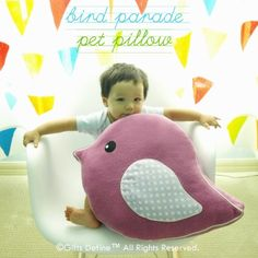 Pet pillows look absolutely fun to play with, sit on, take a nap on.