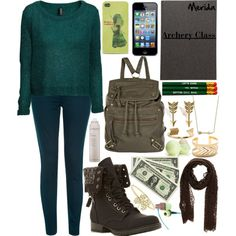 Merida Goes to School: Fall Edition by haterzbelike, via Polyvore Modern Disney Outfits, Merida Outfit, Disneybound, Brave, My Style, Polyvore, How To Wear, School, Fall