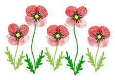 These Thumbprint Poppies are perfect for making a special card for Veteran's Day or Remembrance Day, whichever one you celebrate. Remembrance Day Activities, Remembrance Day Poppy, Thumbprint Crafts, Fingerprint Crafts, Poppy Craft For Kids, Art For Kids, Easy Painting Projects, Art Projects, Veterans Day Poppy