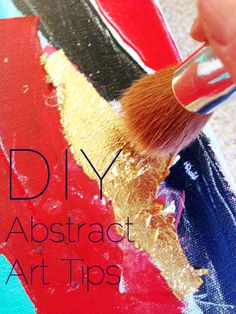 You don't have to be an artist to make abstract art for your home! Read tips on how to DIY here. // via thingsthatmakeusblush.com