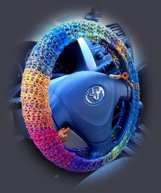 Crocheted Steering Wheel Cover